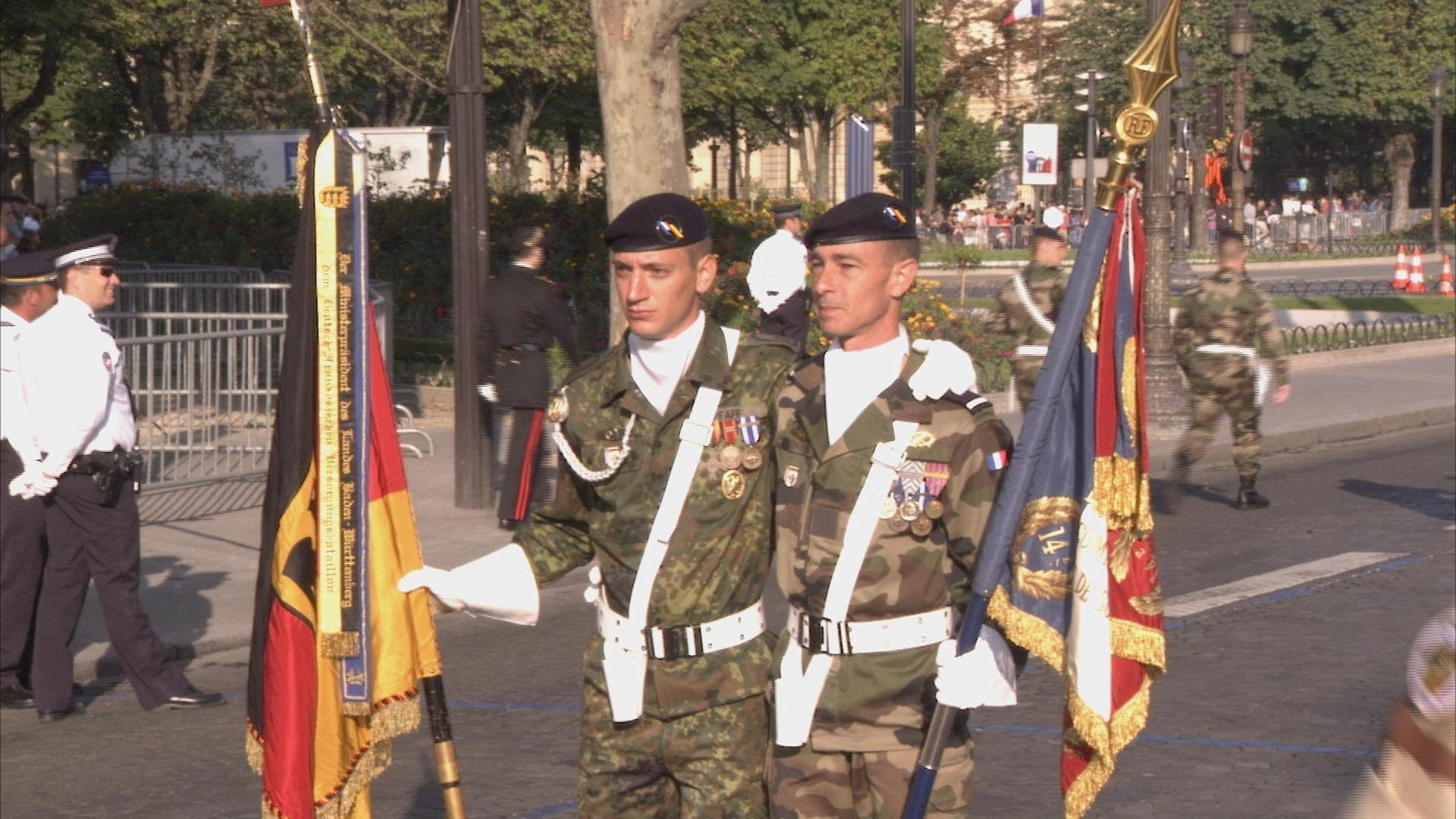 Luxembourg's traditional military parade
