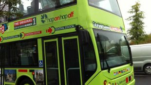 Luxembourg City double-decker bus