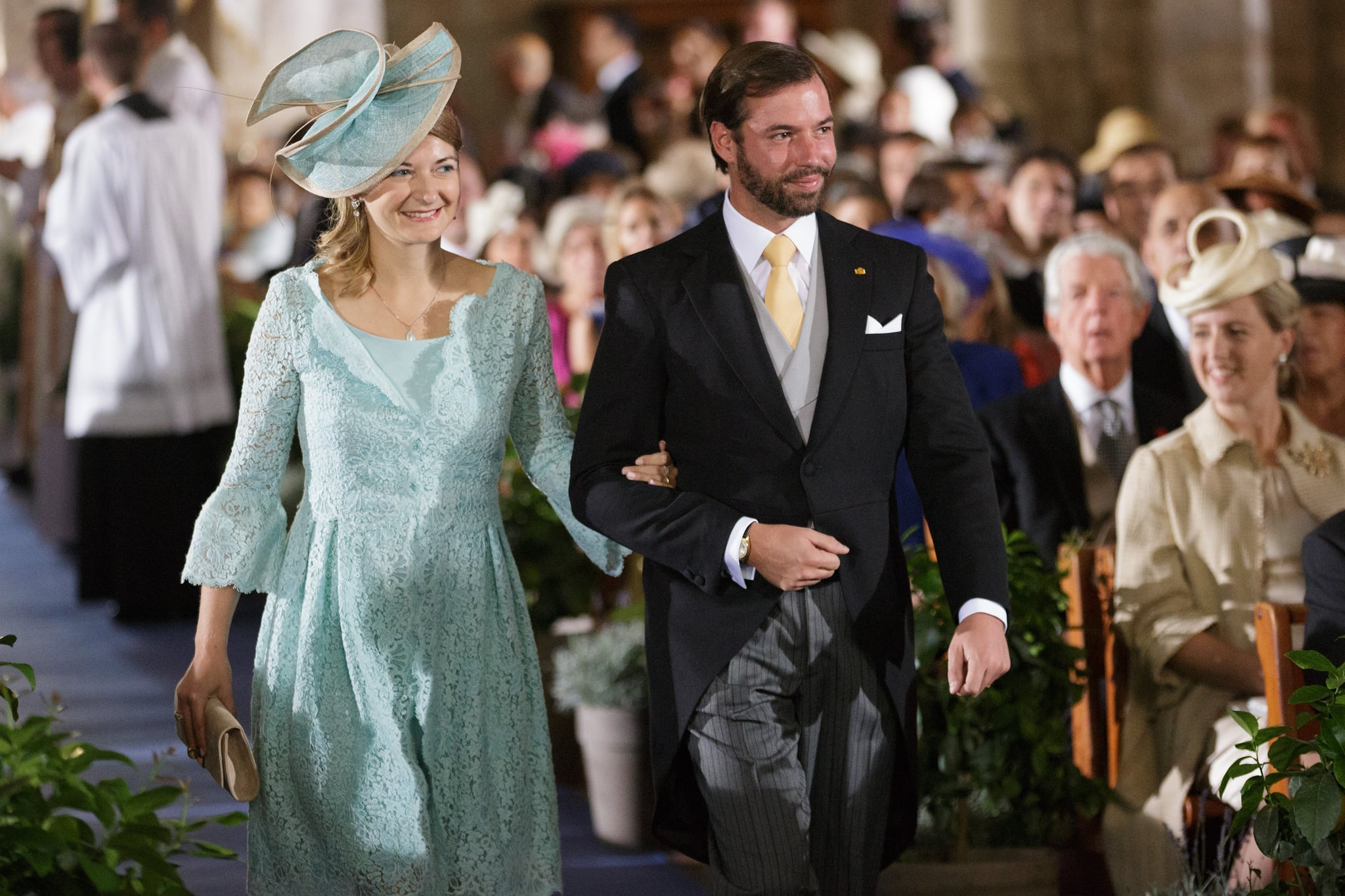 Prince Guillaume Receives Heads of Luxembourg