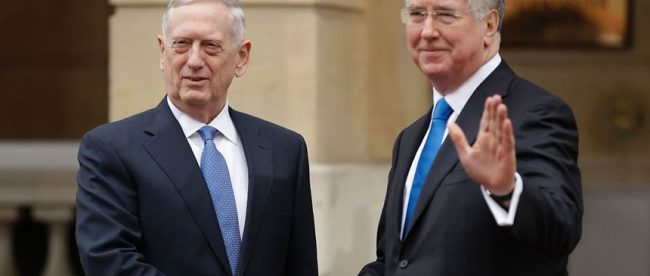 Michael Fallon with James Mattis