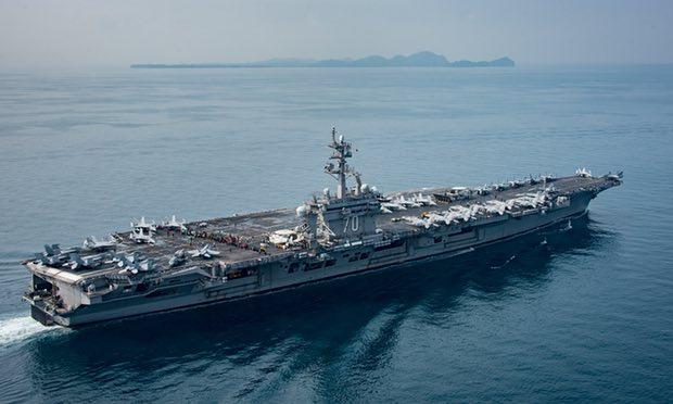USS Carl Vinson is heading towards North Korea