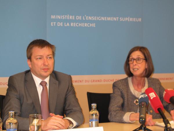 Marc Hansen with health minister Lydia Mutsch