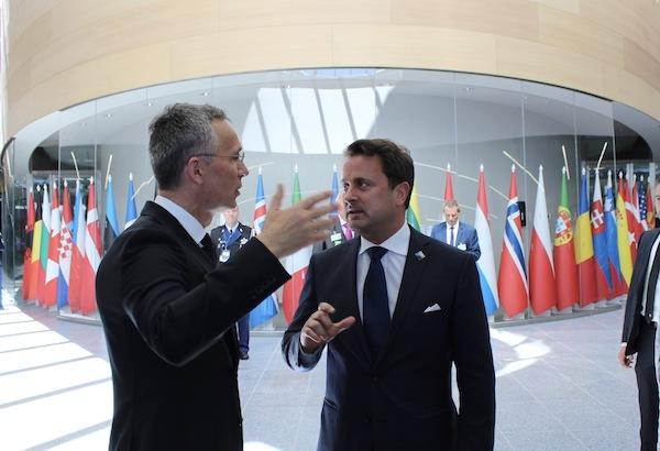 Xavier Bettel en compagnie de secrÈtaire gÈnÈral de l'OTAN, Jens Stoltenberg