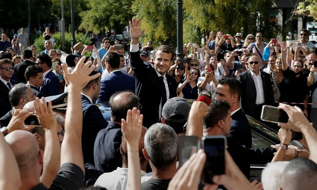 French President Emmanuel Macron in Athens