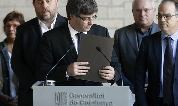 The Catalan president, Carles Puigdemont