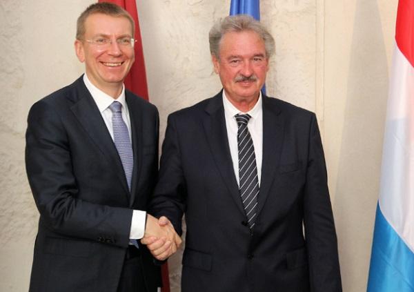 Jean Asselborn with Latvian Foreign Minister Edgars Rinkēvičs