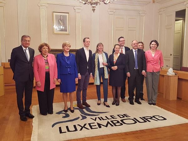 Luxembourg City Municipal Council of mayor