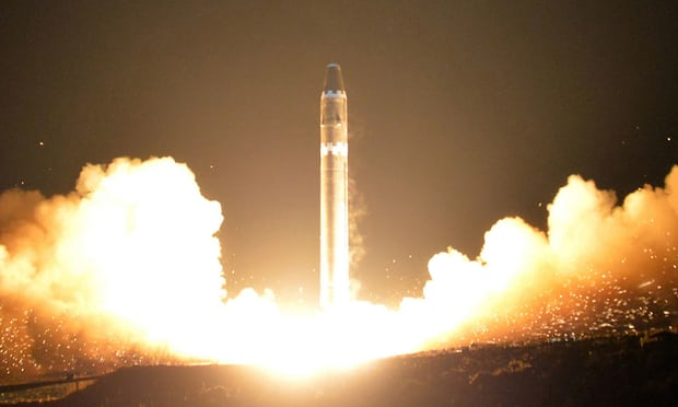 The missile tested by North Korea