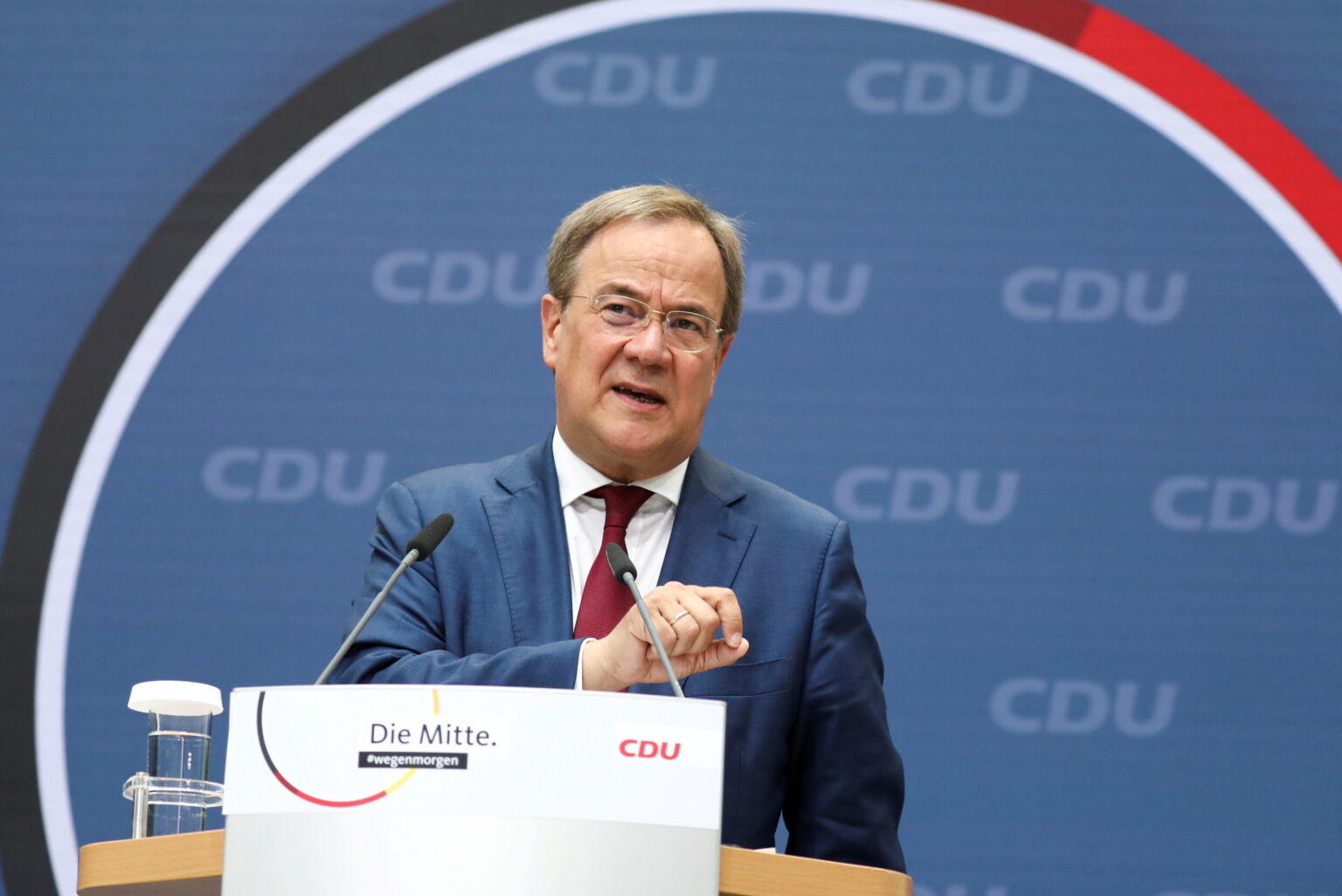 CDU party leader Laschet attends news conference in Berlin